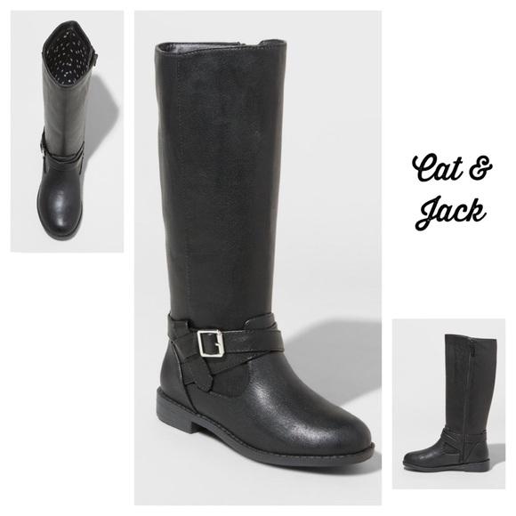 Cat Jack Aniya Black Tall Fashion Boots